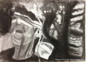 Nach Wald Streben Performance - Charcoal on canvas