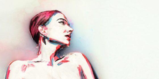 Alexa Meade in Milk (5)