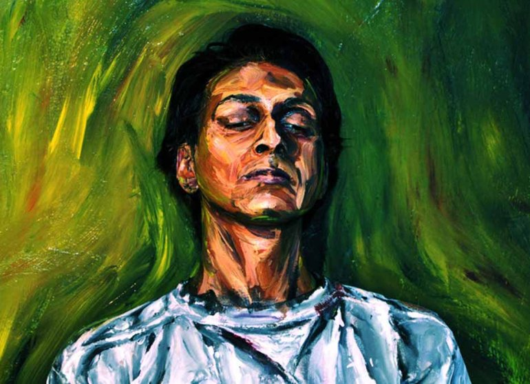 Alexa Meade living paintings lebende kunstwerke malerei Galileo man green