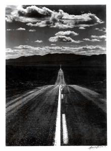 Road, Nevada Desert. Silver-gelatine print, 7.5 x 9.5 inches, circa 1960