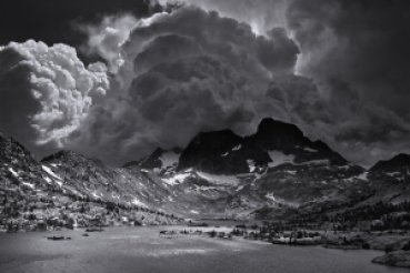 Ansel Adams Wilderness, California. Afternoon Thunderstorm, Garnet Lake.